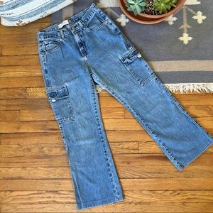 Vintage 90s GAP High Rise Cargo Jeans